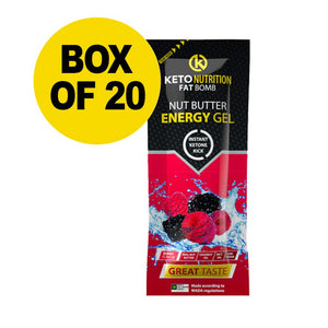 FAT BOMB - NUT BUTTER ENERGY GEL – BERRY (20 BOX)