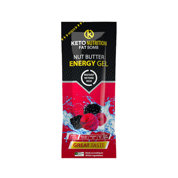 FAT BOMB - NUT BUTTER ENERGY GEL – BERRY (20G)