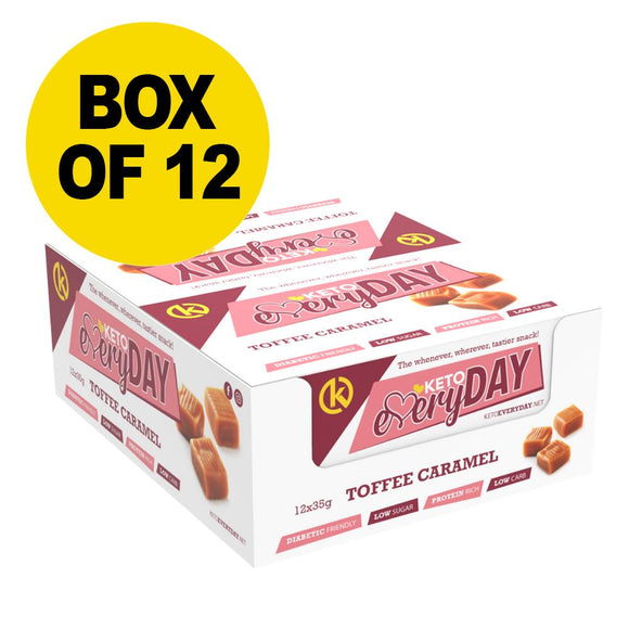 KETO EVERYDAY SNACK BAR – TOFFEE CARAMEL (12 BOX)