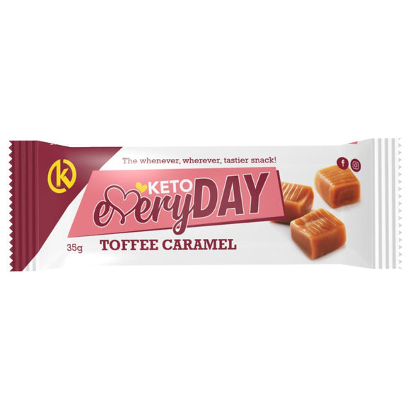 KETO EVERYDAY SNACK BAR – TOFFEE CARAMEL (35G)