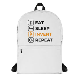 Eat Sleep Invent Repeat Backpack