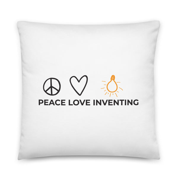 Peace Love Inventing Basic Pillow