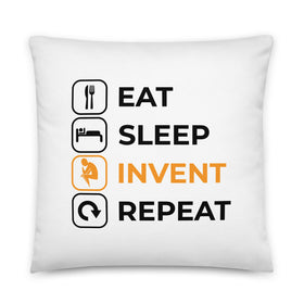 Eat Sleep Invent Repeat Basic Pillow