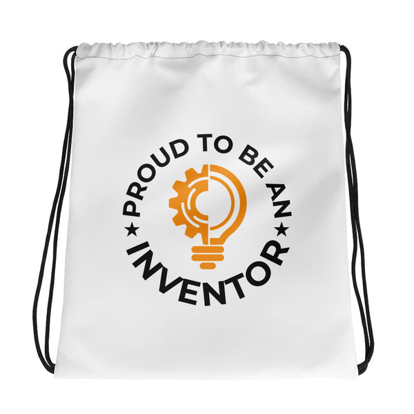 Proud To Be An Inventor Drawstring Bag