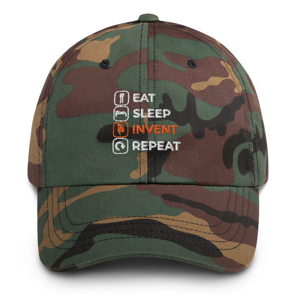 Eat Sleep Invent Repeat Dad Hat