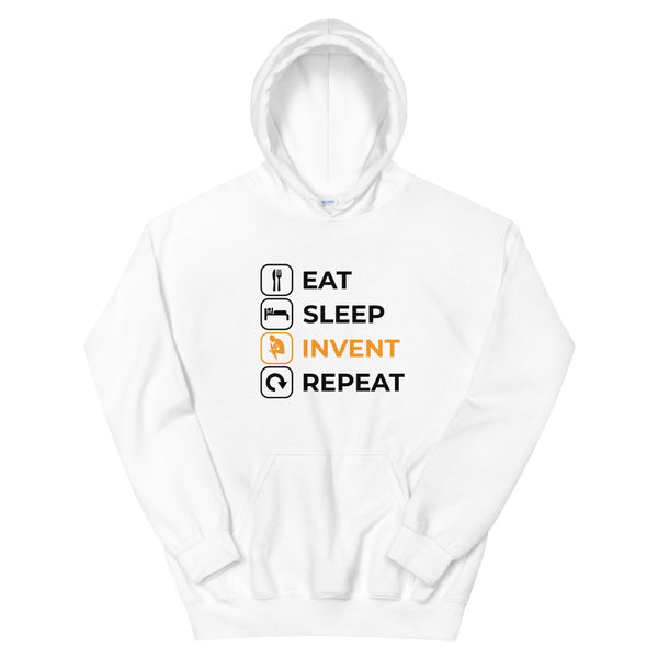 Eat Sleep Invent Repeat Unisex Hoodie