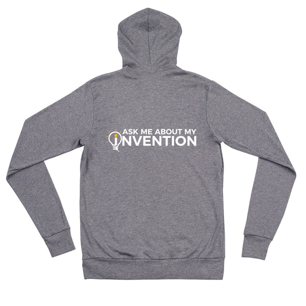 Ask Me About My Invention Unisex Zip Hoodie