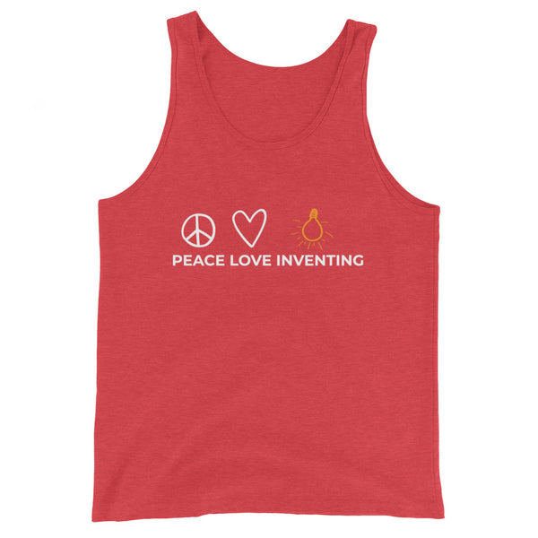 Peace Love Inventing Unisex Tank Top
