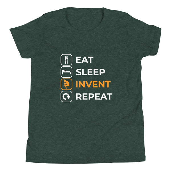 Eat Sleep Invent Repeat Youth T-Shirt