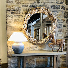 "Load image into Gallery viewer, Driftwood Round Mirror -large 48"" - Bonnie-Jane Design"