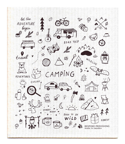 Camping Swedish Dishcloth : Bespoke Provisions