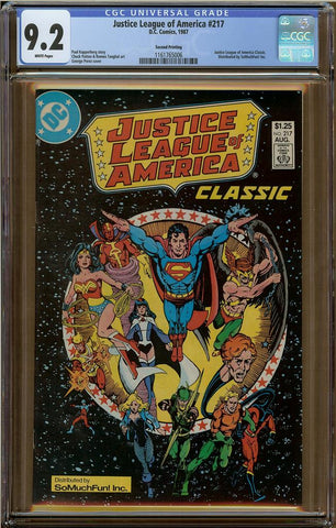 Justice League of America #217 CGC 9.2 2nd Print