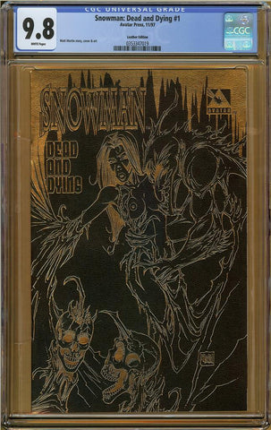 Snowman: Dead and Dying #1 Leather Edition CGC 9.8