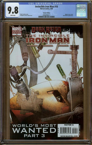 Invincible Iron Man #10 Variant Edition CGC 9.8