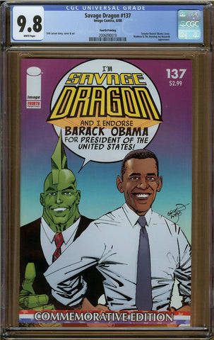 Savage Dragon #137 CGC 9.8 4th Printing