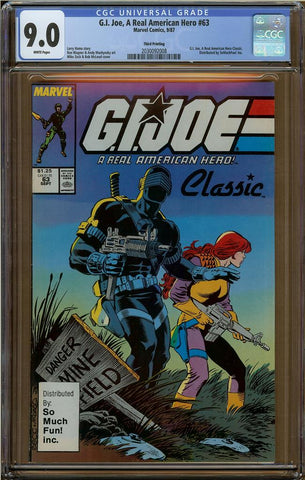 GI Joe, A Real American Hero #63 CGC 9.0 3rd Printing