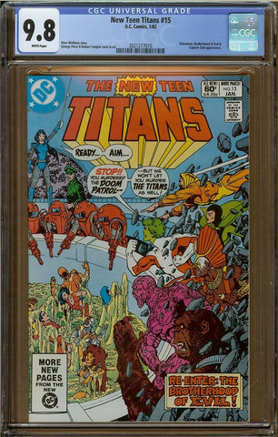 New Teen Titans #15 CGC 9.8
