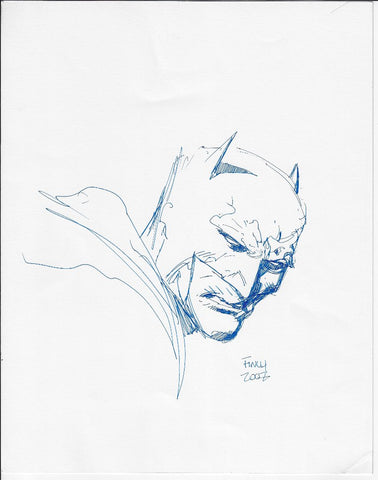 David Finch- Batman Convention Head Sketch