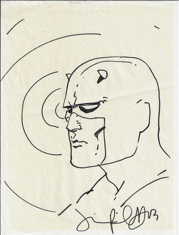Jimmy Palmiotti- Daredevil Convention Head Sketch