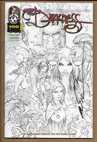 Darkness #100 Emerald Knights Variant Signed