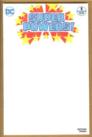 Super Powers #1 Blank Cover NM/NM+