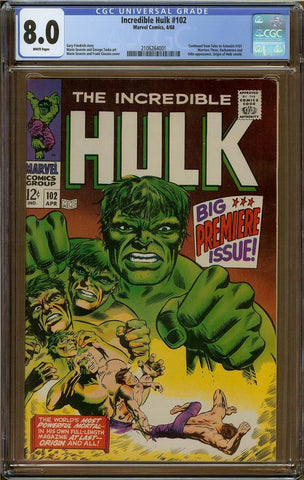 Incredible Hulk #102 CGC 8.0
