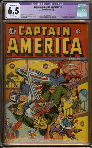 Captain America Comics #18 CGC 6.5 (R)