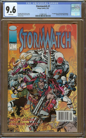 Stormwatch #1 CGC 9.6 Newsstand