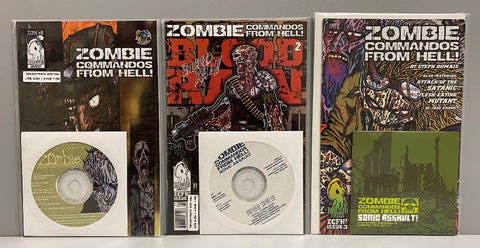 Zombie Commandos From Hell Soundtrack Edition #1-3 Set