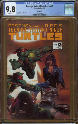 Teenage Mutant Ninja Turtles #2 Third Printing CGC 9.8