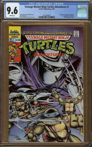 Teenage Mutant Ninja Turtles Adventures (1989) #1 CGC 9.6