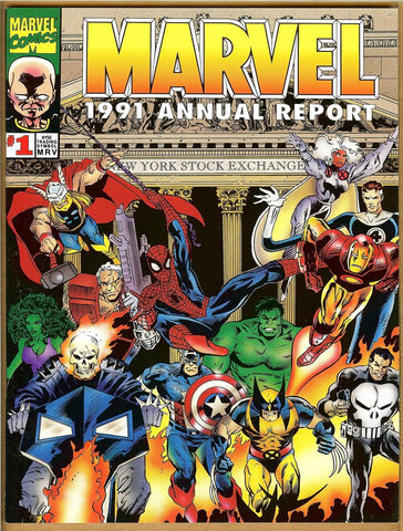 Marvel Annual Report 1991 VF+