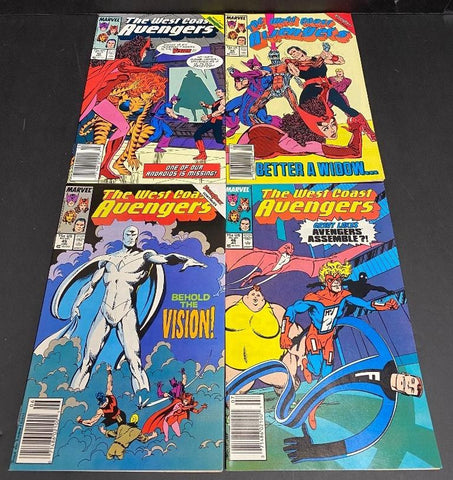 West Coast Avengers Lot #42, 44-46 Avg VF/NM