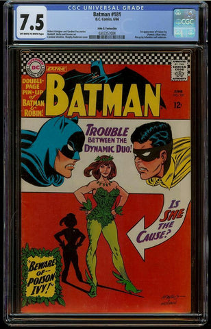 Batman #181 CGC 7.5 Fantucchio Pedigree
