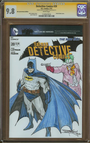 Barry Kitson- Batman/Joker Sketch Cover