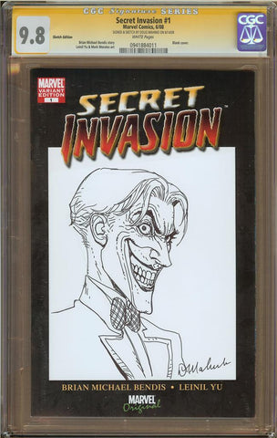 Doug Mahnke- The Joker Sketch Cover