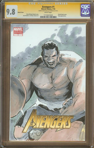 Clay Mann- Hulk Sketch Cover