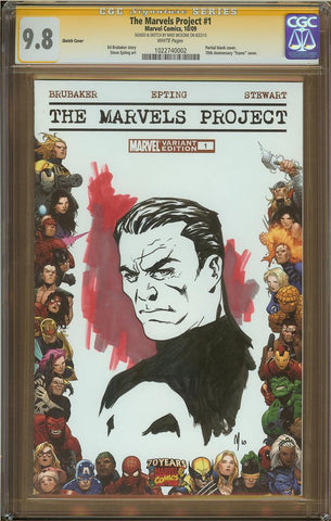 Mike McKone- Punisher Sketch Cover