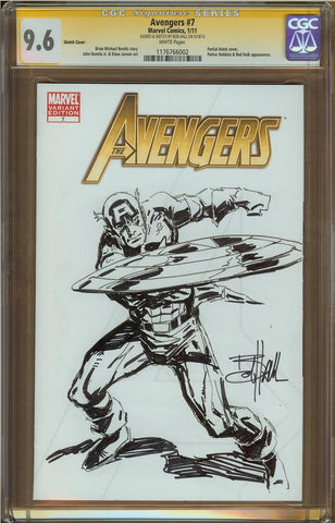 Bob Hall- Captain America Sketch Cover