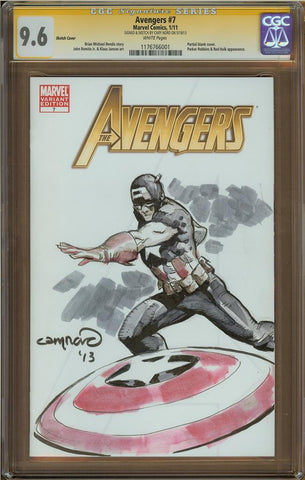 Cary Nord- Captain America Sketch Cover