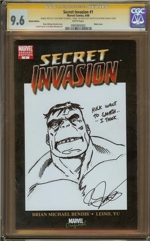 Steve Scott- Hulk & Fing Fang Foom Sketch Cover