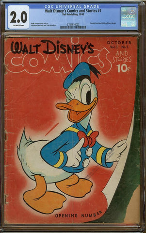Walt Disney Comics & Stories #1 CGC 2.0