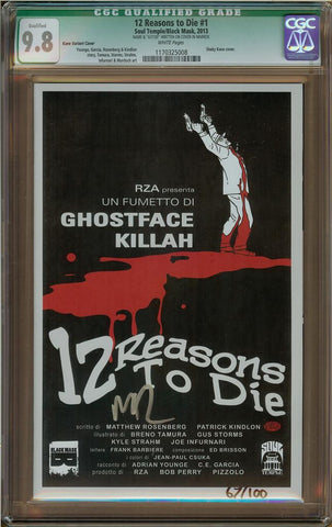 12 Reasons to Die #1 Kane Variant (Q) CGC 9.8