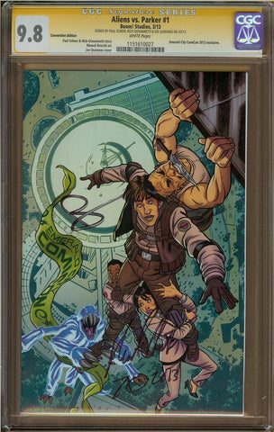 Aliens vs Parker #1 Convention Edition CGC 9.8 $80 Paul Sheer, Nick Giovannetti & Joe Quinones
