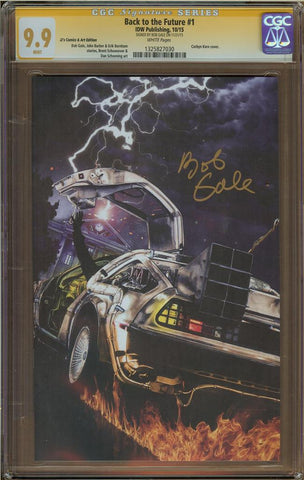 Back to the Future #1 JJ's Comic & Art Edition CGC 9.9