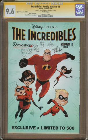 Incredibles #1 Mycomicshop Variant CGC 9.6