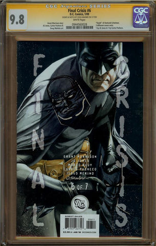 Final Crisis #6 CGC 9.8 w/ Darkseid Head Sketch