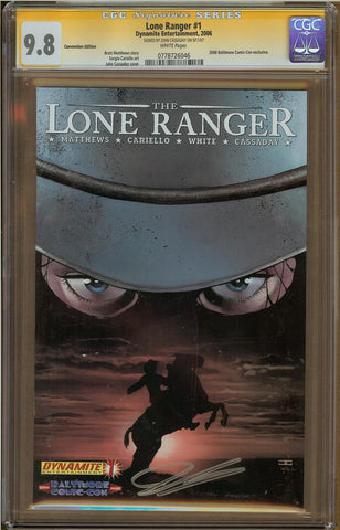 Lone Ranger Convention Edition #1 CGC 9.8