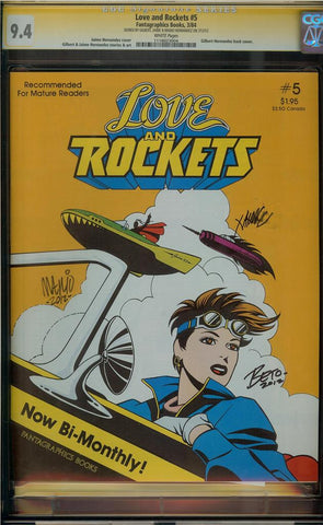 Love and Rockets #5 CGC 9.4