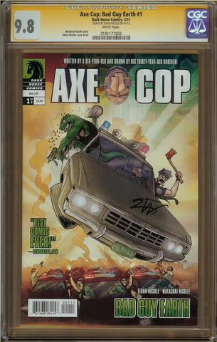 Axe Cop: Bad Guy Earth #1 CGC 9.8